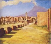 Vesuvius from Pompeii. (Image source: http://www.museumsyndicate.com/Public Domain)