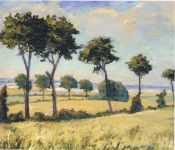 Trees near Breccles. (Image source: http://www.museumsyndicate.com/Public Domain)