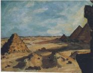 Near the Pyramids. (Image source: http://www.museumsyndicate.com/Public Domain)