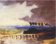 Storm over a Bridge in Southern France. (Image source: http://www.museumsyndicate.com/Public Domain)