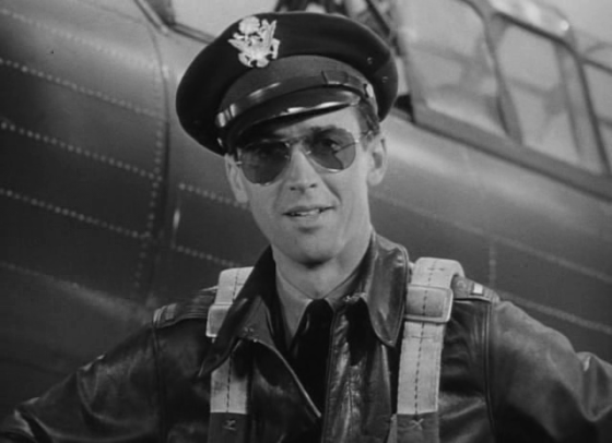 "In ""Winning Your Wings"", Jimmy Stewart says gets to talk about his favourite subject: The U.S. Army Air Corps. (Image source: U.S. War Dept.)"