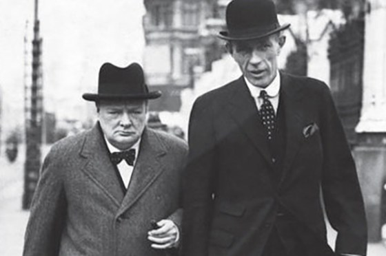 Winston Churchill and his foreign minister Lord Halifax.