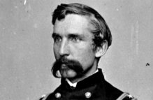 Lawrence Chamberlain of the 20th Maine is best known for his defence of Little Round Top during the Battle of Gettysburg. (Image source: WikiCommons)