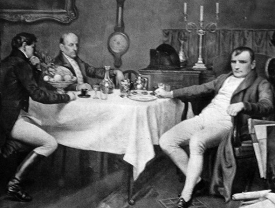 Despite his appetite for conquest, the Napoleon Bonaparte was not much of an eater or drinker. (Image source: public domain)