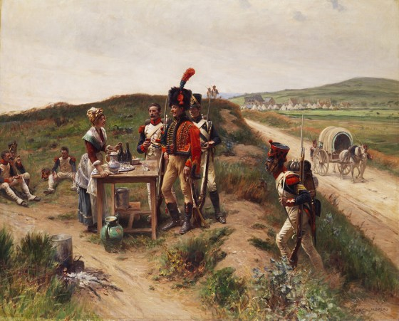 Napoleon once remarked that an army marches on its stomach, yet decent rations were hard to come by for his soldiers. (Image source: WikiCommons)