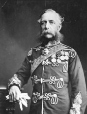 You could knit a sweater from the Earl of Caridgan's whiskers. Lieutenant-General James Thomas Brudenell is perhaps best known for leading the disastrous Charge of the Light Brigade during the Crimean War. (Image source: WikiCommons)