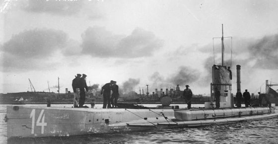 German U-boats would have been at the mercy of ASDIC or Sonar. (Image source: WikiCommons)