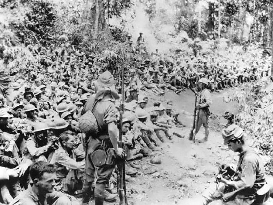 "The ""March of Death"" from Bataan to Cabana Tuan prison camp. May 1942. (Image Source: U.S. National Archives)"