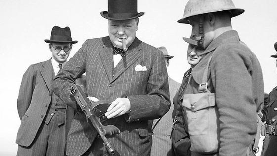 Man of the Hour -- Winston Churchill was the standard-bearer for civilization's struggle against Nazi tyranny. (Image source: WikiCommons)