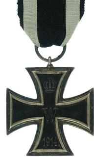 A World War One-era Iron Cross Second Class. Image source: www.northeastmedals.co.uk)