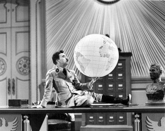 Charlie Chaplin spoofs Der Fuhrer.