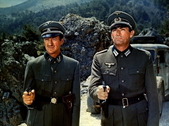 David Niven and Gregory Peck in the Guns of Navarone.