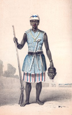 A European depiction of a Dahomey Amazon. (Image source: WikiCommons)