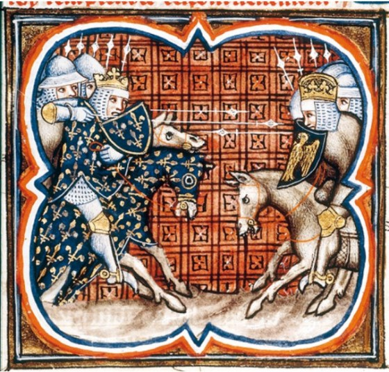 The War of 1202 to 1215 pitted an English coalition against France. (Image source: WikiCommons)