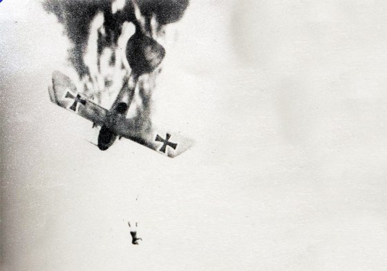 The brass feared that if pilots had parachutes, many would bail out of their machines the first sign of trouble.