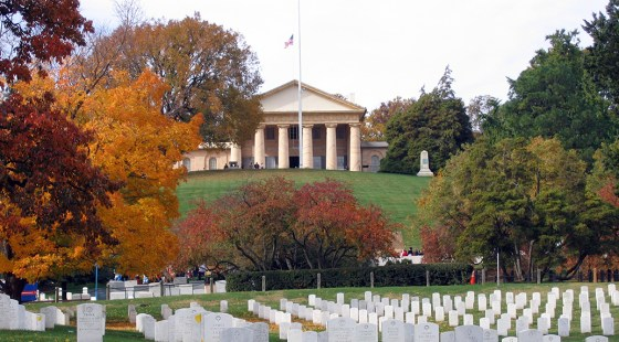 After the Civil War, the grounds at Arlington were transformed into a national military cemetery. The original mansion still stands.