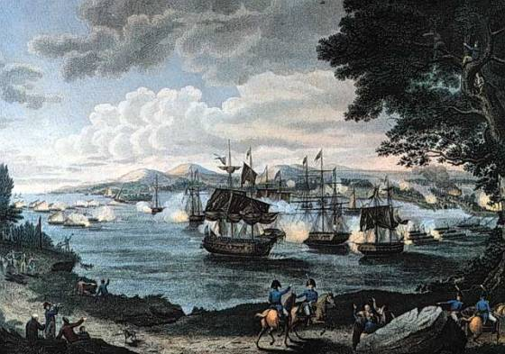 Some of the largest naval battles of the War of 1812 were fought on fresh water. (Image source: WikiCommons)