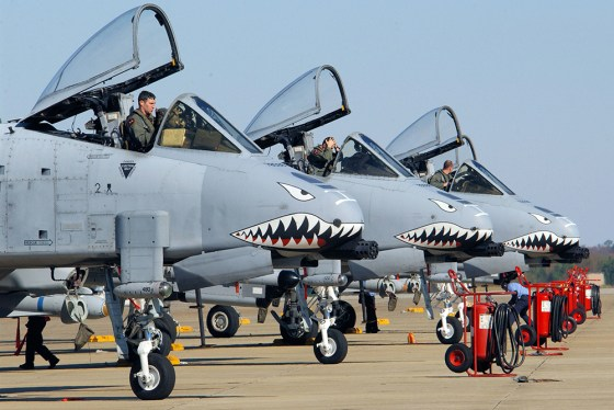 The Flying Tigers' iconic shark teeth nose art remains popular on warplanes to this day. (Image source: WikiCommons)
