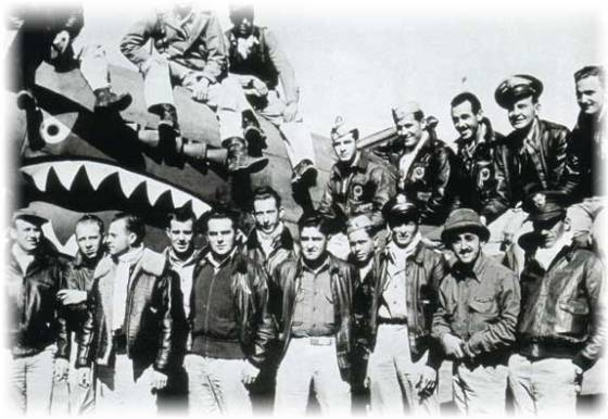 Although the pilots of the Flying Tigers had military training, all were civilians. (Image source: WikiCommons)