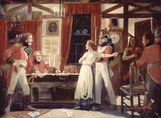 Laura Secord walked 20 miles to warn the British of an American attack. (Image source: WikiCommons)
