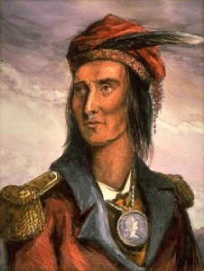 Tecumseh. (Image source: WikiCommons)