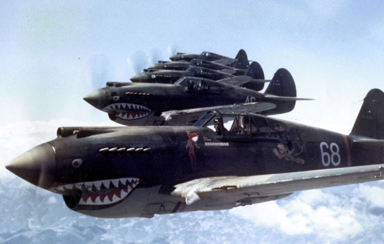 America's all-civilian volunteer air corps, the Flying Tigers, were the first to take the fight to Imperial Japan after Pearl Harbor. (Image source: WikiCommons)