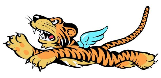 The insignia for the Flying Tigers was created by cartoonists at Walt Disney Studios.