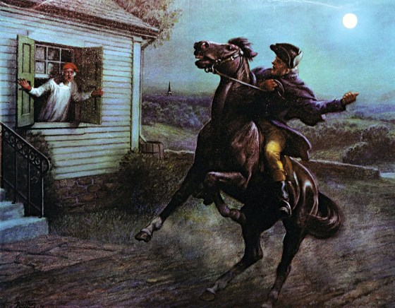 """Paul Revere's storied """"midnight ride"""" is the stuff of American legend. (Image source: WikiCommons)"""