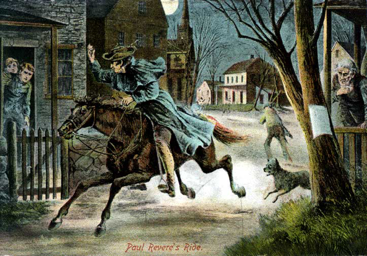 the midnight ride of paul revere essay An overview of the design principles used in grant wood's painting the midnight ride of paul revere.