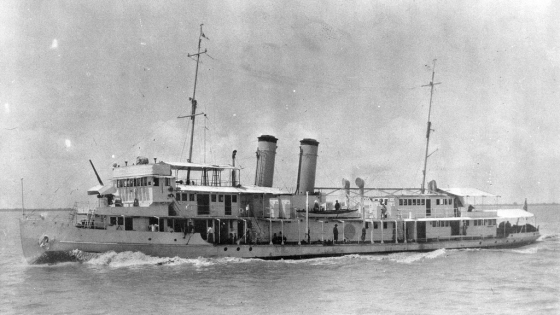 Four years before the attack on Pearl Harbor, Japanese warplanes sunk the gunboat USS Panay in Chinese waters. (Image source: WikiCommons)