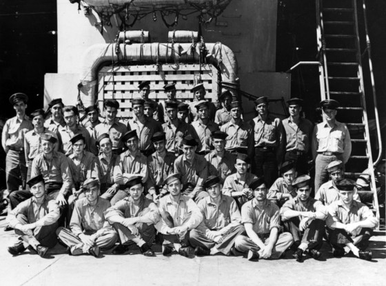 The crew of the USS Indianapolis just weeks before the ship was lost. (Image source: U.S. Navy)