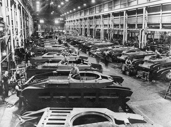 A British tank assembly line. (Image source: WikiCommons)