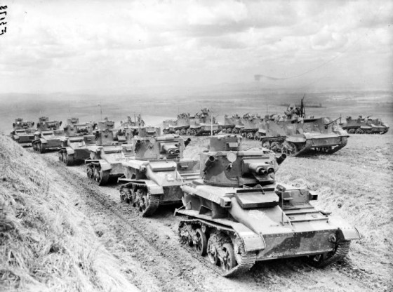Britain raced to keep pace with German rearmament in the lead up to the Second World War, establishing a centre for army mechanization. (Image source: WikiCommons)