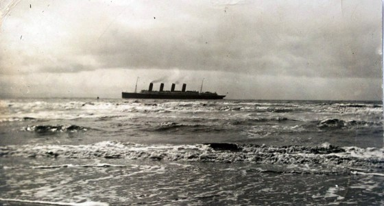 The Lusitania underway. (Image source: WikiCommons)