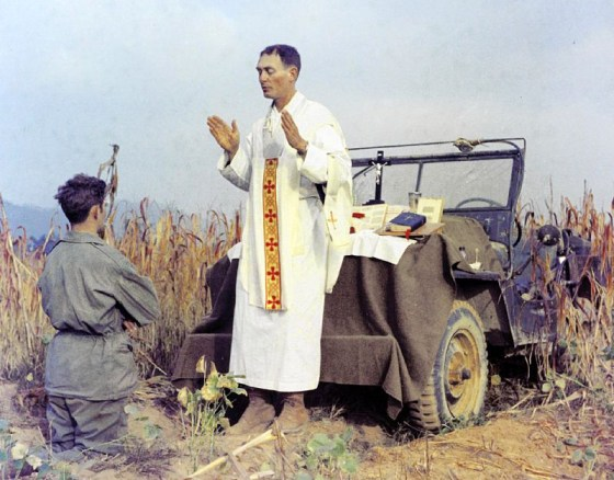 Father Emil Kapun helped save the lives of dozens of American POWs during the Korean War. (Image source: WikiCommons)
