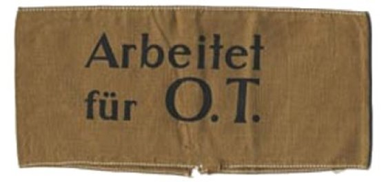 A badge worn by a conscripted foreign worker. (Image source: WikiCommons)