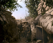 Canadian troops in the trenches, 1916. (Image source Canada. Dept. of National Defence/Library and Archives Canada via the Vimy Foundation)
