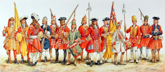 Duke of York and Albany's Maritime Regiment of Foot, circa 1664. (Image source: UK Minister of Defence)