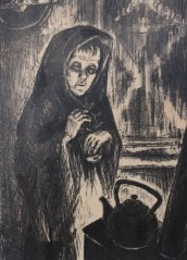 """Tanya. Alone."" An 11-year-old girl named Tanya Savicheva kept a journal of the siege. In it, she writes of the death of her siblings and her mother. Although she herself succumbed to complications from malnutrition after the city was liberated, her journal was used as evidence at the Nuremburg Trials. (Image source: Darwin College)"