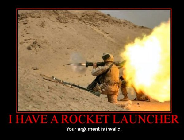 Life Quotes Wallpapers For Facebook Military Humor Funny Joke Rocket Launcher Arguments