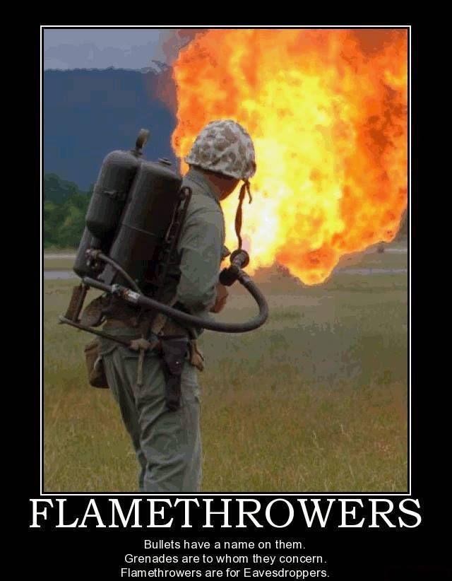 Flamethrower  Military humor