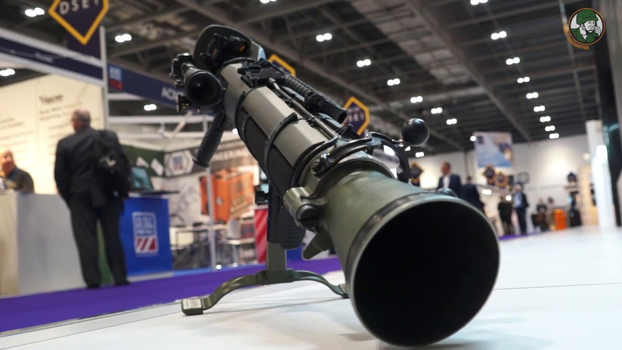 SAAB Carl Gustaf M4 multi-role weapon system at DSEI 2017