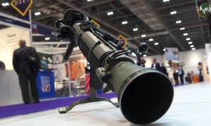 SAAB Carl Gustaf M4 multi-role weapon system at DSEI 2017