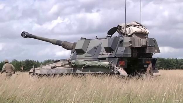 AS-90 self-propelled howitzer