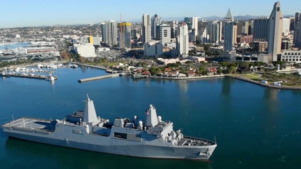 High-tech Amphibious Ship USS Murtha Arrives at Naval Base San Diego