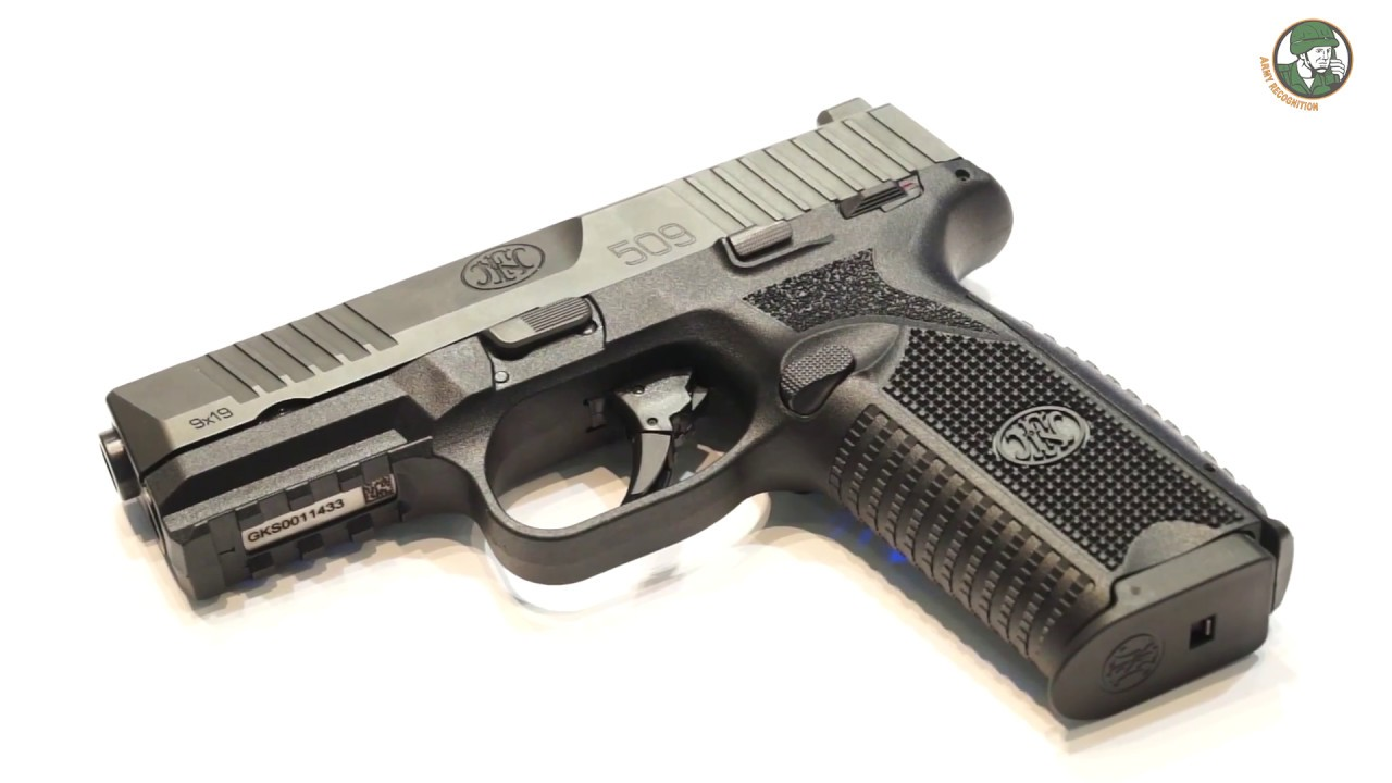 FN 509 9x19mm caliber review Semi-automatic double action pistol FN Herstal Belgium