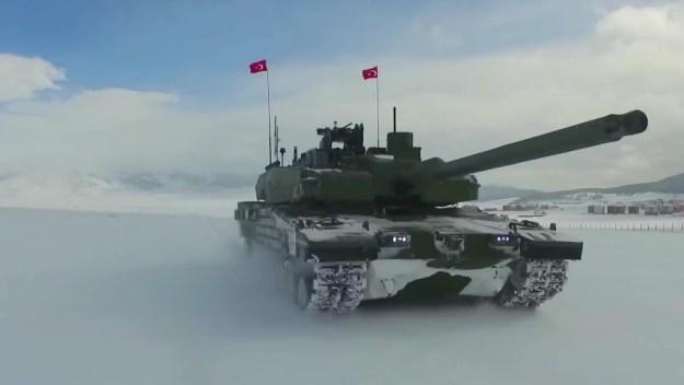 Otokar Altay Main Battle Tanks Field and Snow Testing