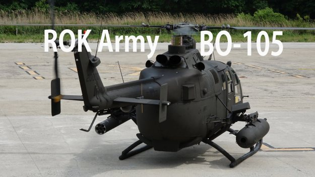 ROK Army Bo 105 KLH Light Attack Helicopter