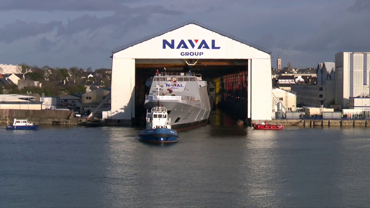 Naval Group Launched 8th French Navy FREMM frigate Normandie