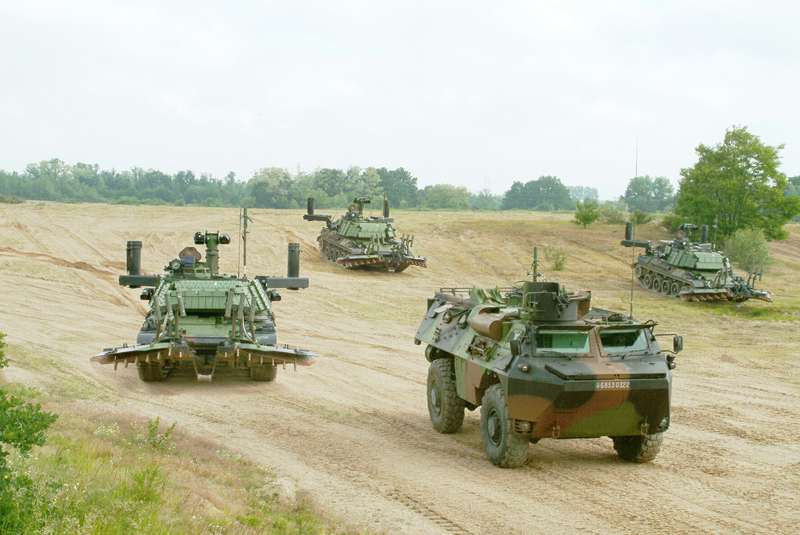 French Army AMX 30 B2 DT Mine clearing vehicle